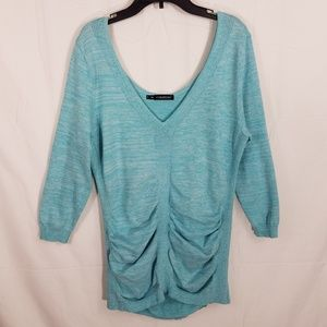 Maurices V-neck Ruched Front Knit Top
